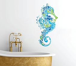 Seahorse Design - Peel and Stick - Removable Bathroom Any Ro