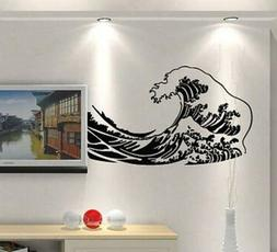 See Ocean Water Wave Removable Wall Art Stickers Vinyl Wall