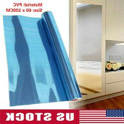 Self-adhesive Bedroom Wall Stickers Reflective Mirror Sticke