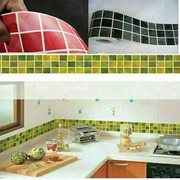 Self Adhesive Mosaic Wall Stickers Tile Floor Kitchen Bathro