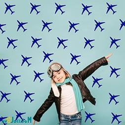 Melissalove 24pcs/set Airplane Wall Pattern Wall Decals DIY