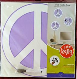 Set of 3 WALL-POPS! DRY-ERASE PEACE-SIGN Wall-Art Decals - M