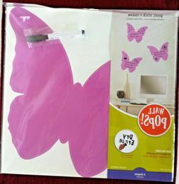 Set of 3 -WALL-POPS! DRY-ERASE BUTTERFLY Wall-Art Decals - M