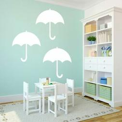 Set of Umbrellas Large Wall Decals