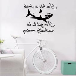 Shark Wall Decals Quote Im Like A Sticker Home Decor Art Nur