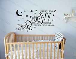 Shoot For The Moon Stars Wall Decals Vinyl Wall Decal Baby N