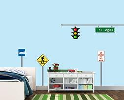 Sign Decal for Walls, Traffic Light Decal for Children, Not