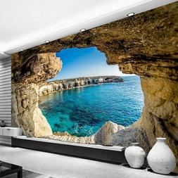 simple cave 3d realistic wallpaper on wall
