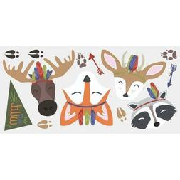 RoomMates Sleepy Woodland Animals Decal, 1 Sheet 36.5 inches