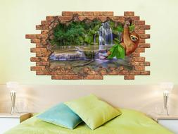 Sloth Wall Sticker Nature Hole in the Decals Animals Nursery