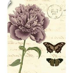 Small Vintage Floral IV Wall Decal