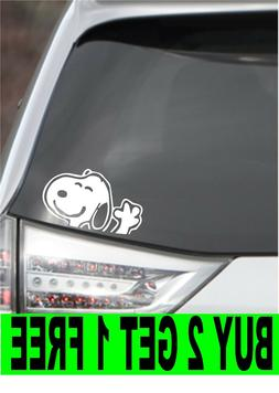 SNOOPY Charlie Brown Vinyl Decal Car Window Wall Sticker CHO