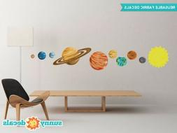 Solar System Fabric Wall Decals, Set of 9 Planets and Sun