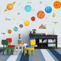 Solar System Wall Sticker Outer Space Planet Wall Decal Kids