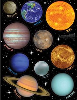 SOLAR SYSTEM wall stickers 10 decals planets w/name Earth Su