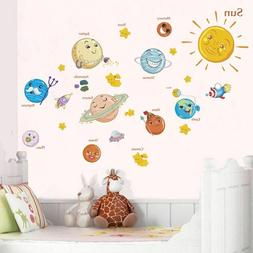 Solar System wall stickers decals for kids rooms Stars outer