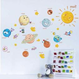 Solar System Wall Stickers For Kids Rooms Stars Outer Space