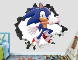 Sonic the hedgehog Adventure Custom Wall Decals 3D Wall Stic