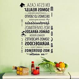 "ufengke® ""En Esta Casa"" Spanish Quotes and Sayings Wall Dec"