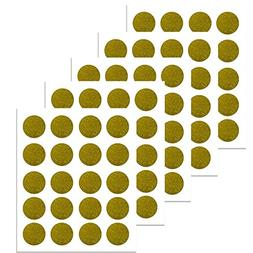 PARLAIM Sparkly Gold Polka Dots Wall Decals Circles, Removab