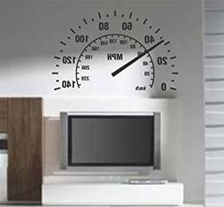 Speedometer Wall Decal Sticker Room Nursery Car Cars Baby Ma