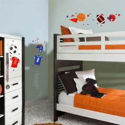 Sports 47 Wall Stickers BASKETBALL FOOTBALL SOCCER Room Deco