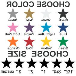 star stickers pick your size and color