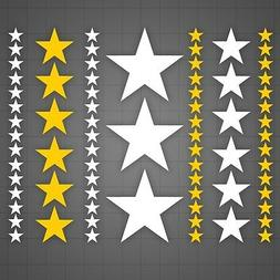 Stars decal Peel and Stick stickers, kids room star stickers
