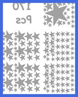 """Stars Mix Removable Wall Decals For Kids Room Decoration +""""1"""