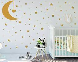 Easma Stars Wall Decals  Easy to Peel and Stick Safe on Pain