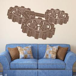 Steampunk Gears Wall Decal for home decor - professional vin