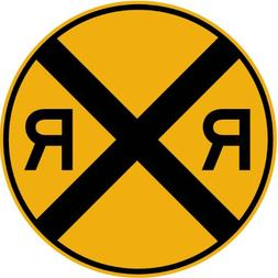 Street & Traffic Sign Wall Decals - Rail Road Crossing Symbo