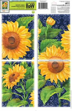 Sunflower Jumbo stickers  Wall Creation 4 square each sheets