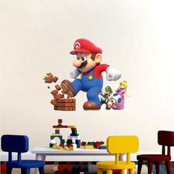 Super Mario Big Wall Decals Nintendo Wallpaper Stickers Mari