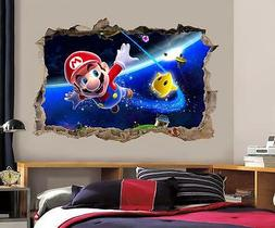 Super Mario Bros Galaxy Smashed Wall Decal Removable Wall St