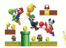 Super Mario Bros Mural Wall Sticker Removable Vinyl Decals F