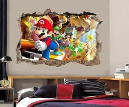 Super Mario Bros Scene Smashed Wall Decal Removable Wall Sti