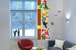 Super Mario Height Chart Wall Sticker for Kid Room | Childre
