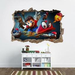 Super Mario Odyssey 3D Smashed Wall Sticker Decal Home Decor