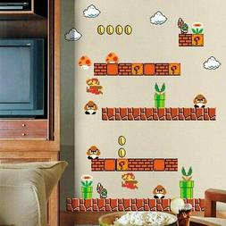 Super Mario Stick Wall Decals for Kids Wall art Room Decal
