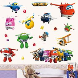 Super Wings Plane Wall Decals Removable sticker Kids Nursery