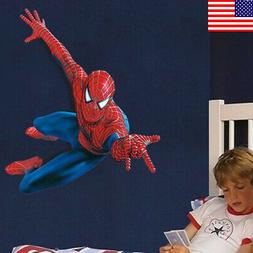 US! DIY 3D Removeable Spiderman Wall Sticker Vinyl Mural Dec