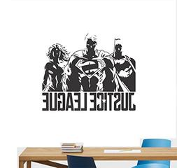 Superheroes Wall Decal Cool Modern Design Justice League Sup