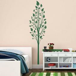Tall Tree with Leaves Vinyl Wall Decal - for living, nursery