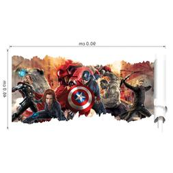 The Avengers Captain America Removable 3D Wall Sticker Wall