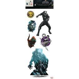THE BLACK PANTHER wall stickers 6 Marvel decals superhero AV