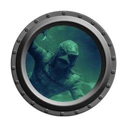 The Creature from the Black Lagoon Watches You Porthole Wall