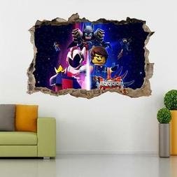 The Lego Movie 2 Decal 3D Smashed Wall Sticker Art Mural Leg