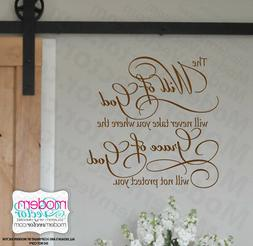 The WILL OF GOD, Grace of God Quote Vinyl Wall Decal Inspira