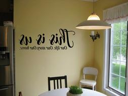 THIS IS US OUR LIFE STORY VINYL WALL DECAL LETTERING SAYING